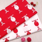 Fonesun-C248 Christmas stretch customize printed cotton knitting fabric for children clothing