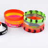Kids size Custom logo promotional silicone wristbands