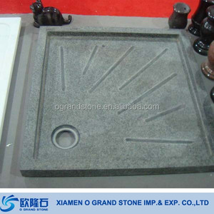 Solid Stone Shower Base Black Granite Marble Portable Deep Shwer Tray