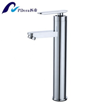 High quality single lever bathroom wash basin mixer tap chrome brass tall faucet
