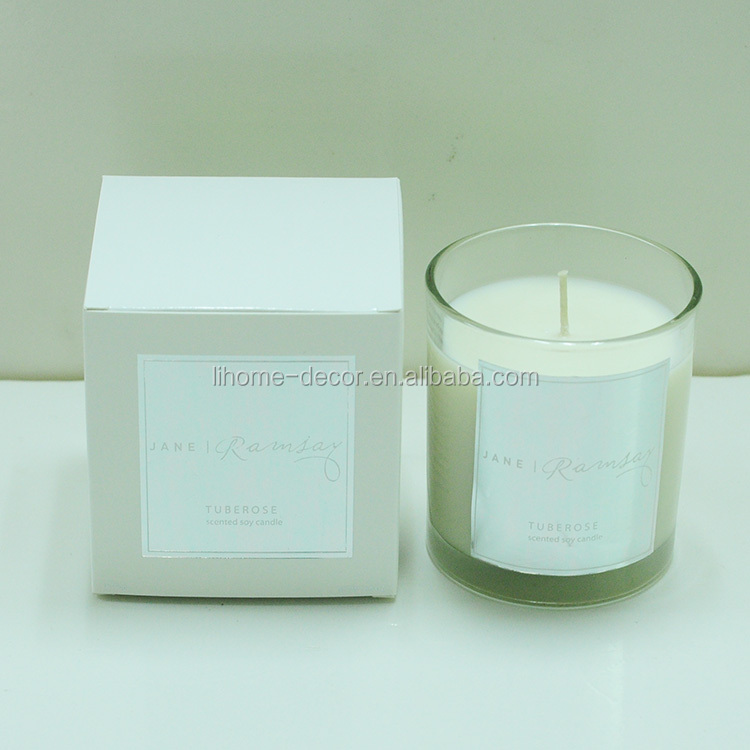 Shenzhen candle factory supply Australia popular coconut&lime scented candle in glass candle holder