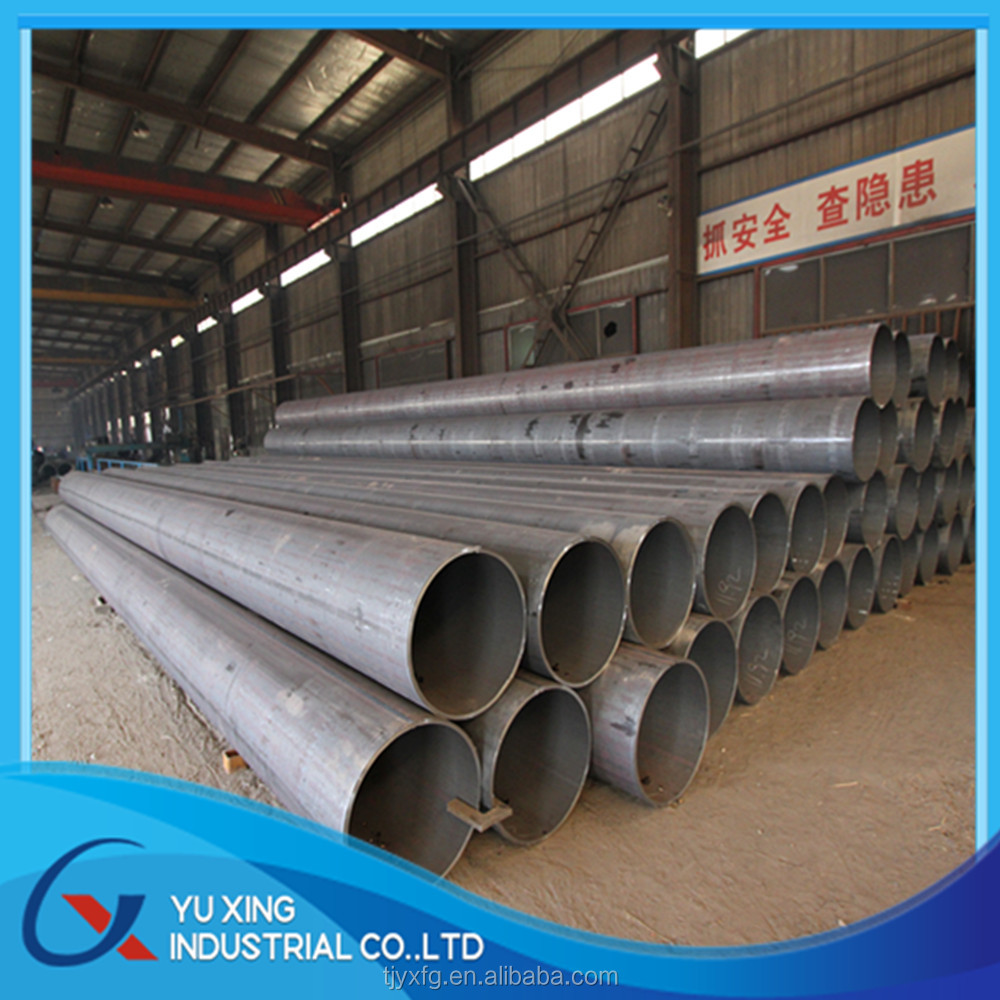 LSAW welded black round steel pipe carbon steel for gas and oil