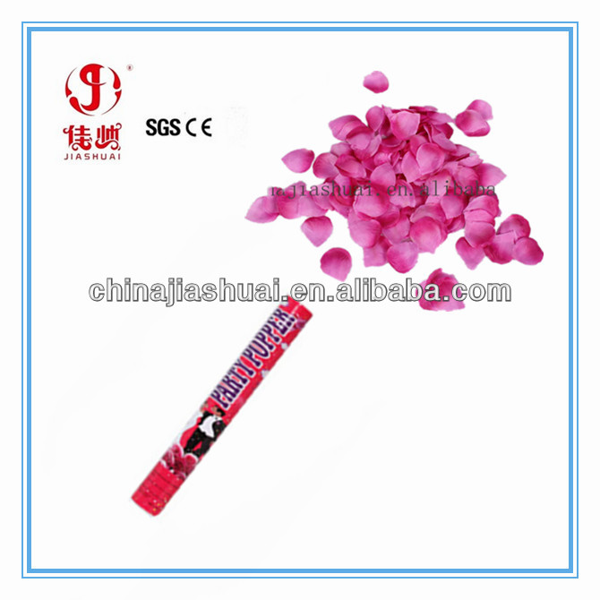 2014 new design and different size rose petal wedding confetti shooter,baby shower party supplies,party confetti shooter