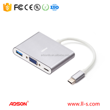 2016 Customized Multifunction Aluminum Material for andriod and ios VGA Video/Audio/Micro USB/USB-A Digital AV Adapter