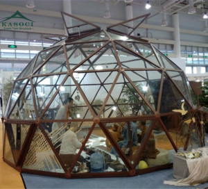 Mini 8M Tent Waterproof Steel Frame Glamping Tent Portable Structure Glass Prefabricated Geodesic Dome
