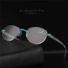 2018 TR90 ретро очки для чтения, круглая оправа, Небьющийся Карманный считыватель, очки для дальнозоркости, в комплекте мягкий чехол(Китай)