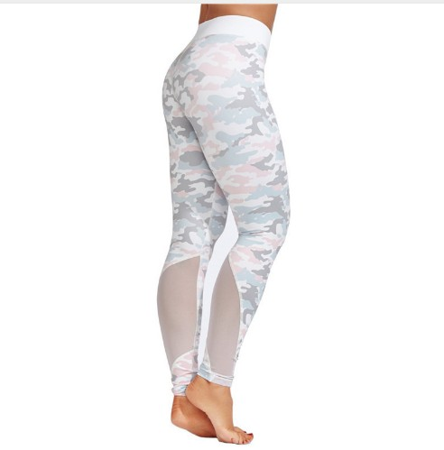Custom Print Yoga Leggings Yoga Pants Camo Mesh Leggings Athletic фото