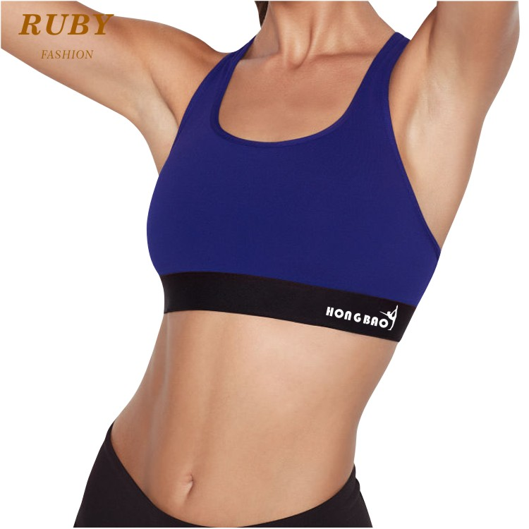 Custom blank women yoga sportswear athleisure ladies gym cotton sports bra