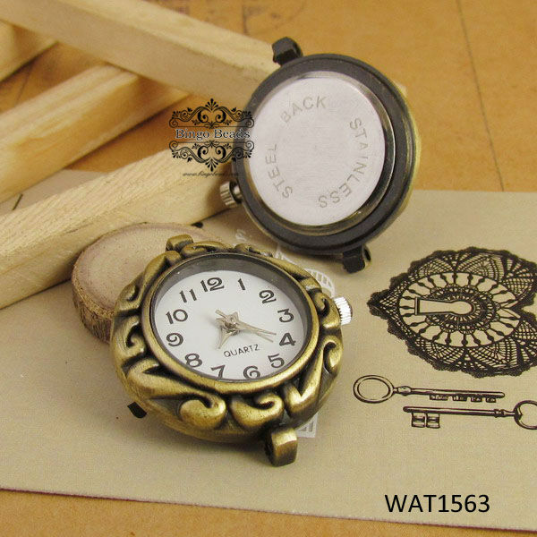 Antique Bronze Quartz Watch Face's for Jewellery Making