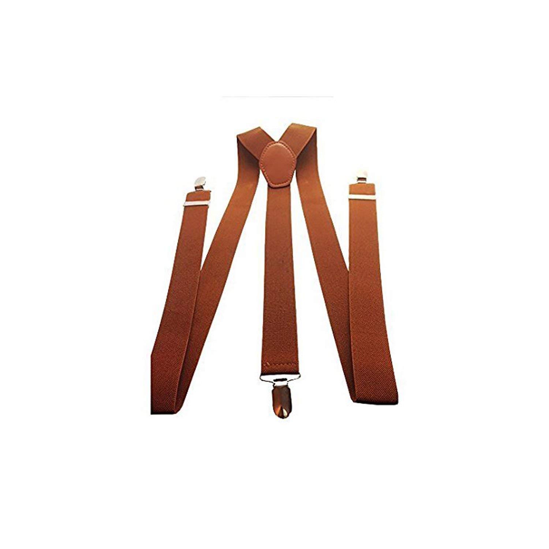 Mens Elasticated Braces 35mm High Quality Heavy Duty Adjustable Suspenders