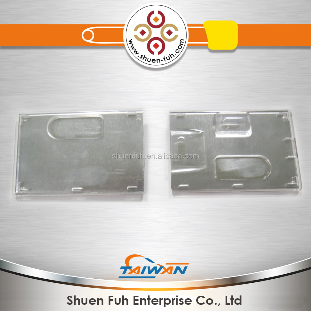 Custom clear name card holder for PVC business plastic ID card holder