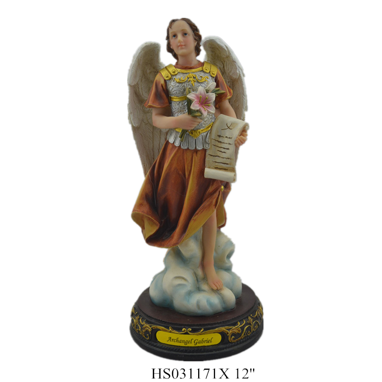 Polyresin religious archangel statue 12 INCH archangel miguel