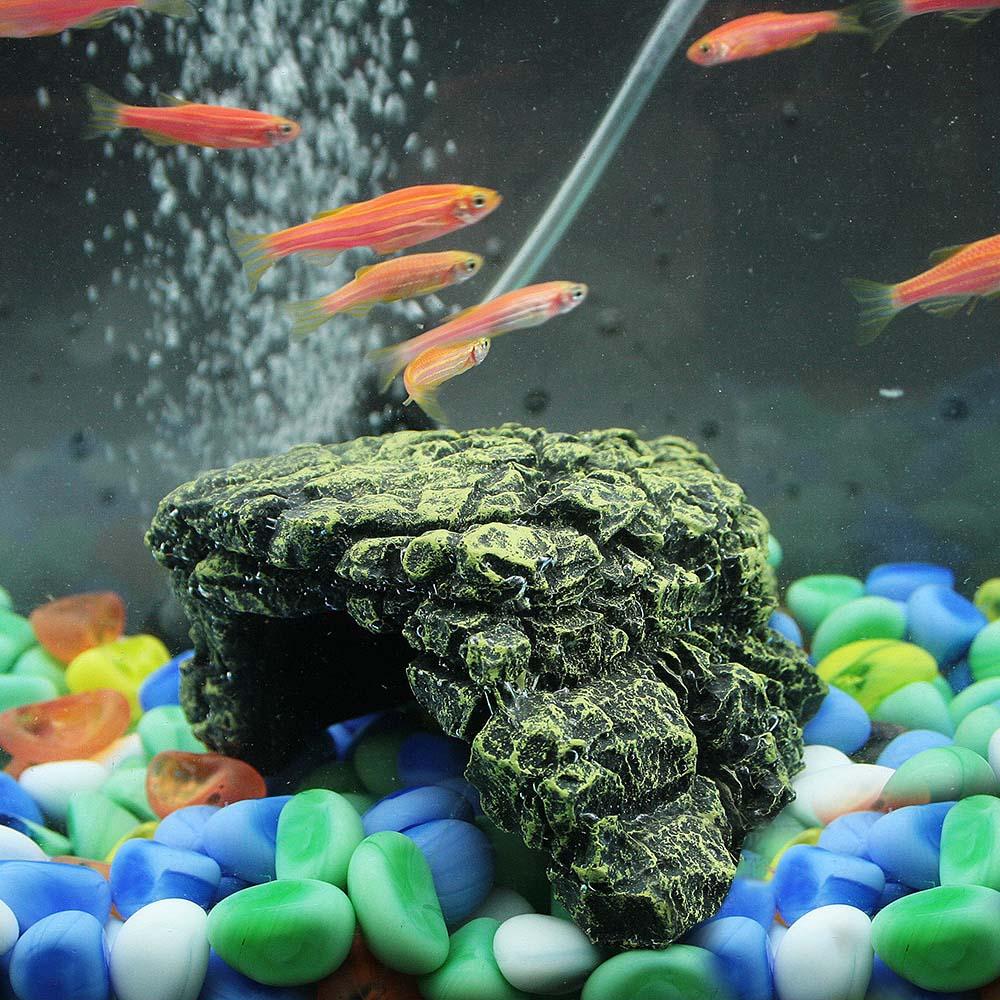 Fish tank rock decorations