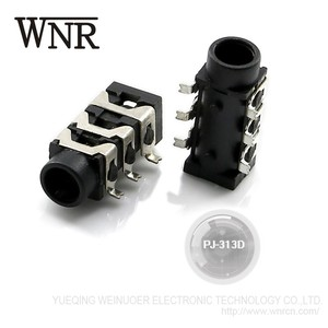 WNRE PJ-313D 6 pin 3.5 mm female audio jack 3.5mm phone jack smd