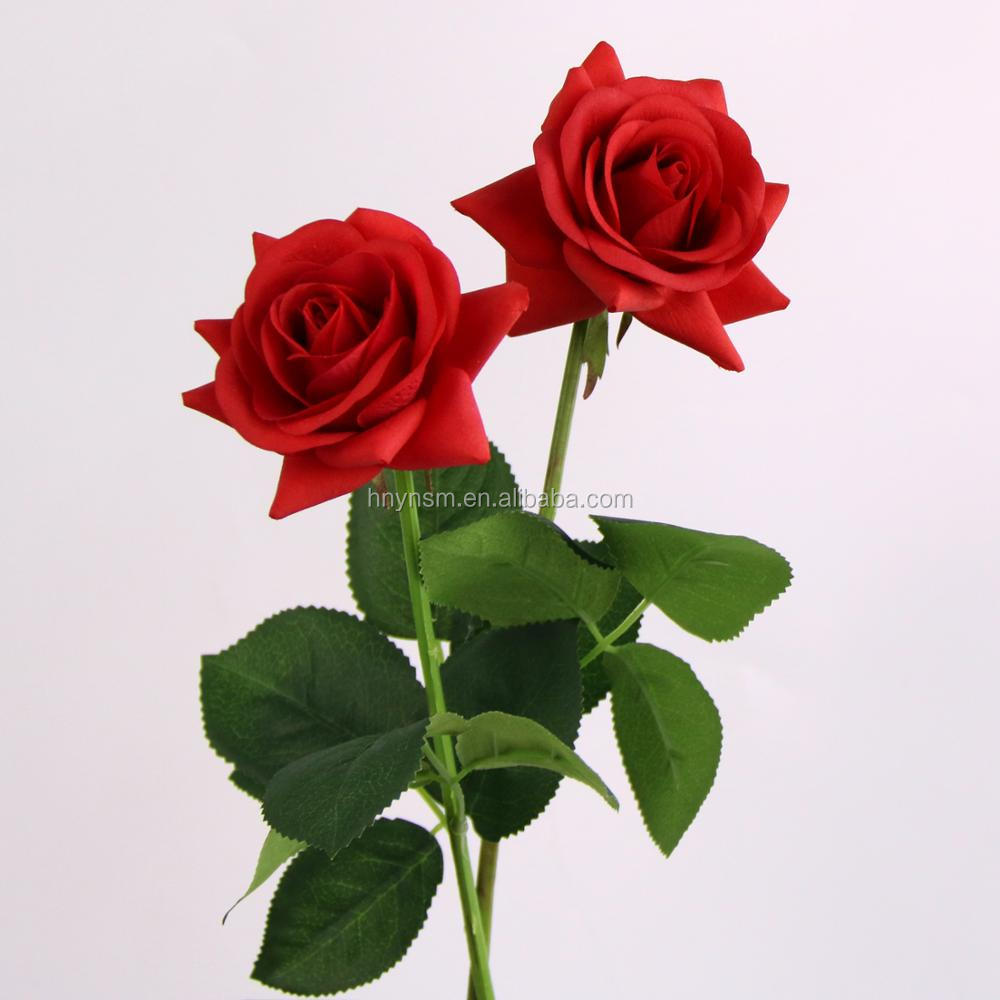 Real Touch Beautiful Flowers For Wedding Decoration 7 Colors ...