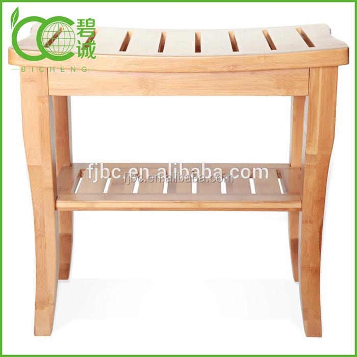 Design Bamboo Wooden Bath Stools