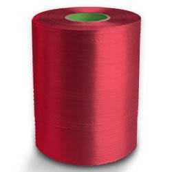 Twine - PP Film Tape Twine - Red - 8430', Size: D-17, 19 lbs Tensile, 2# Tube (20 Tubes) - CWC-046100
