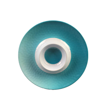 Plastic round shape different size melamine chip and dip plate with BSCI SEDEX audit