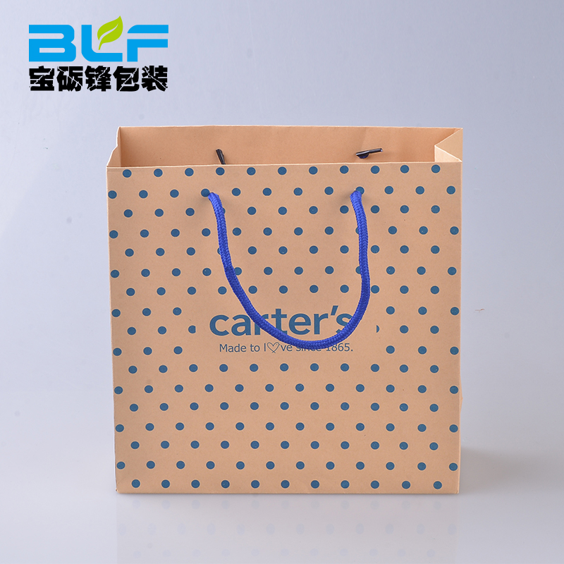Brown craft shopping bag and low price kraft paper bag