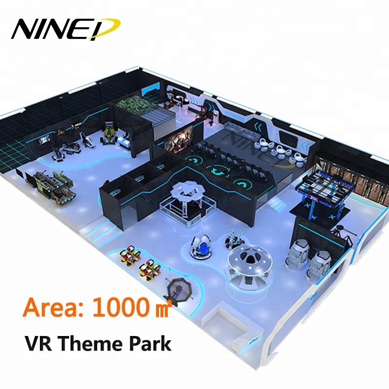 NINED 2019 Indoor Spel Zone Arcade Games Fabrikant 360 Vision 9D Vr Simulator Prijs Vr Thema Park