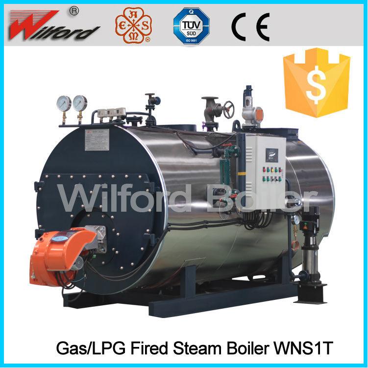 Tipo horizontal wilford calderas de vapor de gas natural - Tipos de calderas de gas natural ...