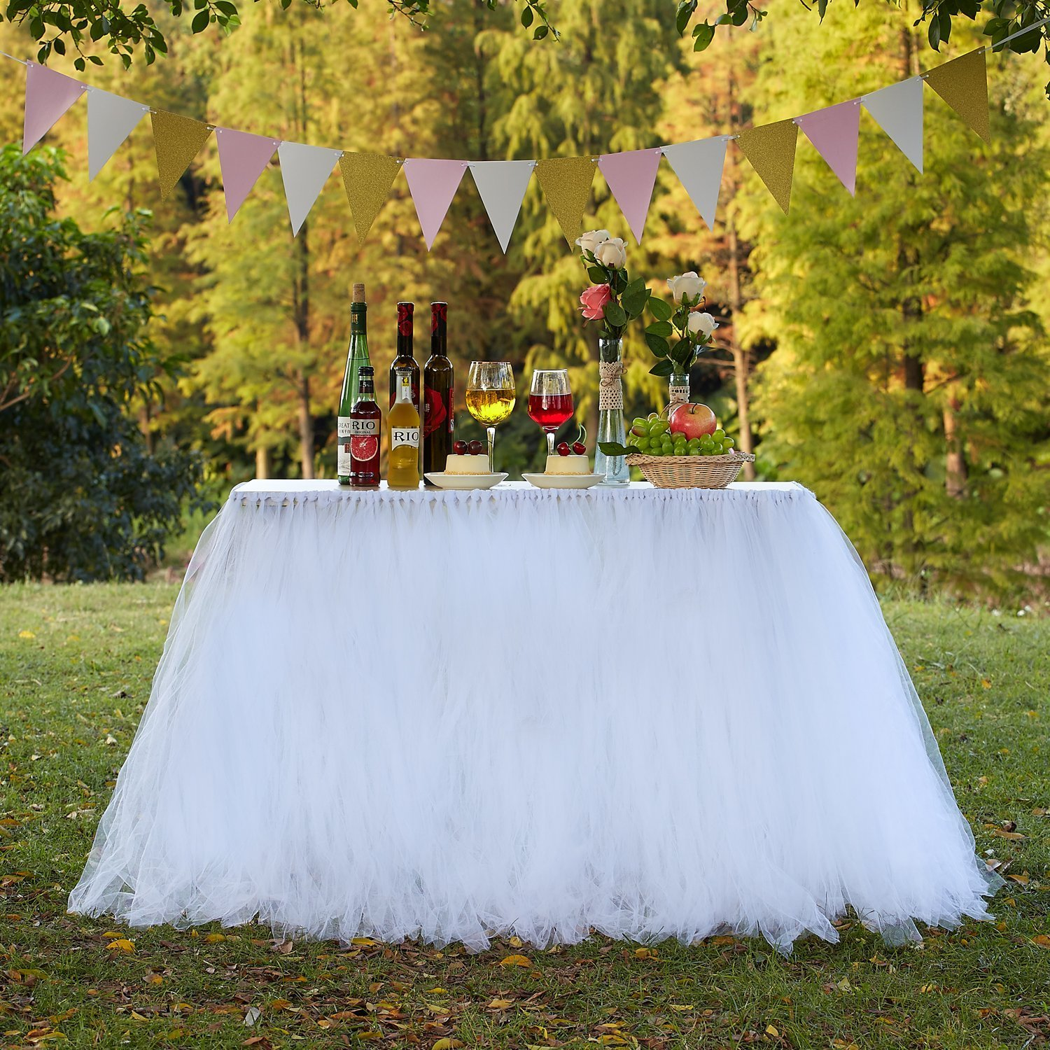 Get Quotations · TUTU Table Skirt Tulle Tableware Queen Wonderland fd5a2ecf6931