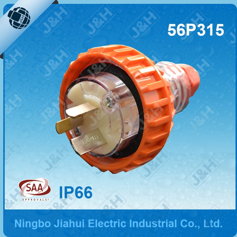 Professional 5pins 20A round pins standard industry plug with ip66