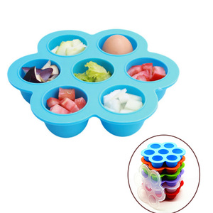 BPA Free Silicone Egg Bites Mold, Silicone Baby Food Storage Containers