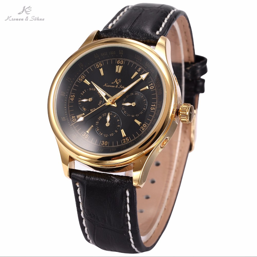 Mens Leather Band Automatic Imperial KS Auto Mechanical Watch