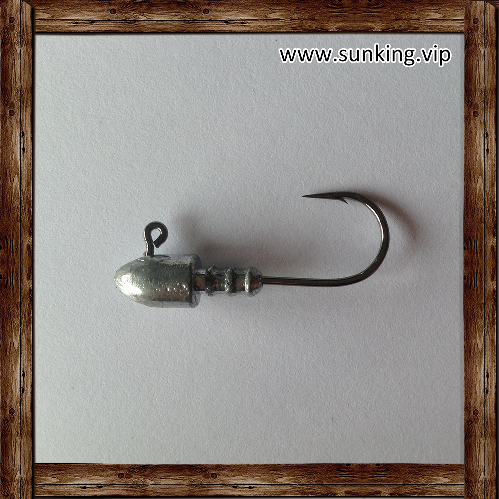 Top Quality Effectively Unpainted Jig Lead Head With Hook
