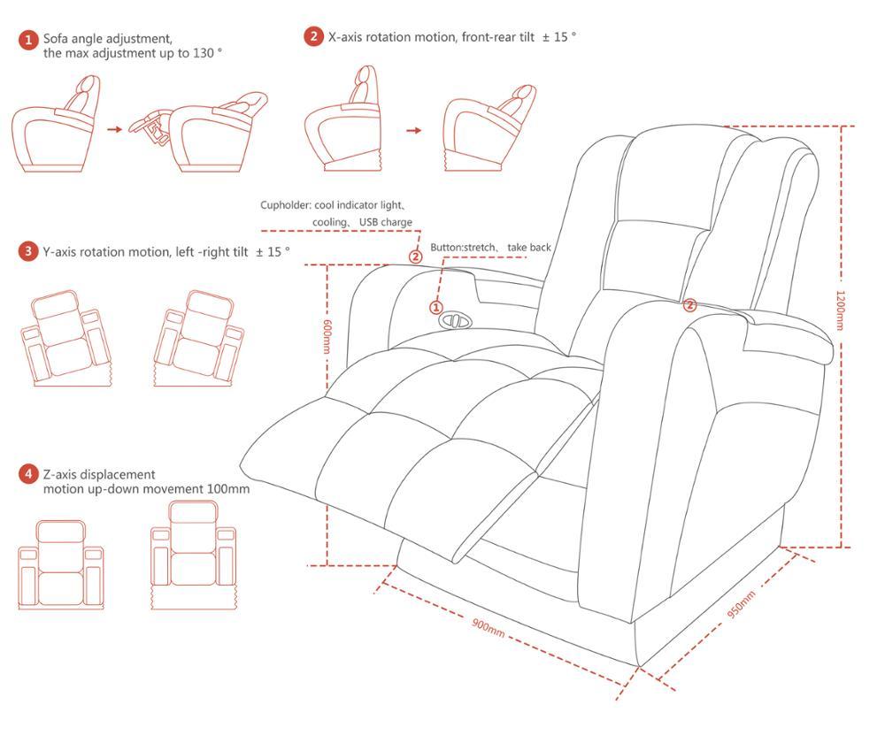 4D Max Cinema high-tech 3d 4d 5d 6d cinema theater movie motion chair seat