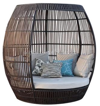 birdcage shaped bali resort style tall outdoor rattan sun sleeping