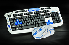 2.4G usb gaming wireless keyboard and mouse combo set   Multimedia game gamer kit Waterproofe DPI Control For Desktop PC Laptop