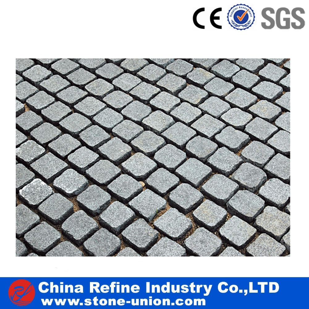 Square customized granite cobblestone pavers for sale low price
