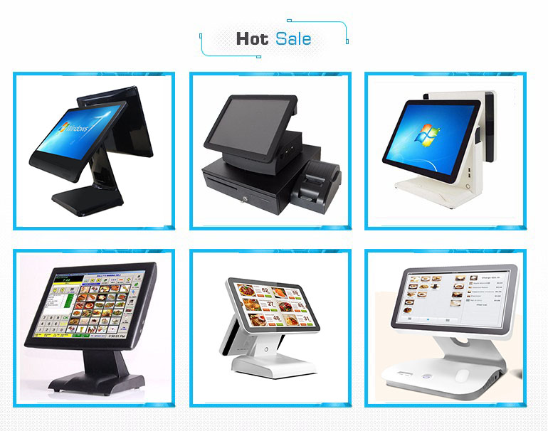 modern dual screen point of sale pos system touch screen with free software and printer