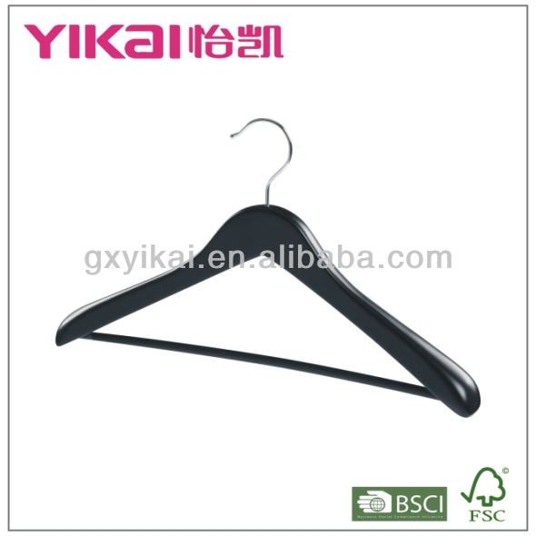 Home and hotel using wooden coat hangers