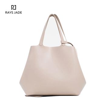 58aea56f6d Sample Designer Soft Pink Leather Tote Bag Handbag For Women - Buy ...