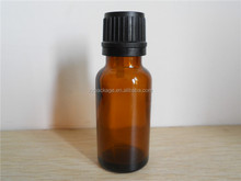 amber small glass vial 15 ml Amber Glass Essential Oil Bottle with European Dropper Cap