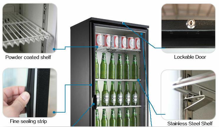 Mini Kühlschrank Mit Gefrierfach Für Pizza : Glas tür getränk display kühlschrank monster energy mini coole bar