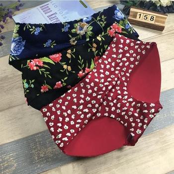 ac6b2aa9040 Lady Printing Butt-lift 8 Colors Push Up Low Waist Cotton Disposable  Paddeds Panties