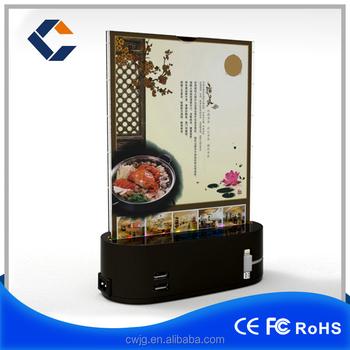 Mobile Phone Holder For Restaurant Coffee Shop Menu Power Bank ...
