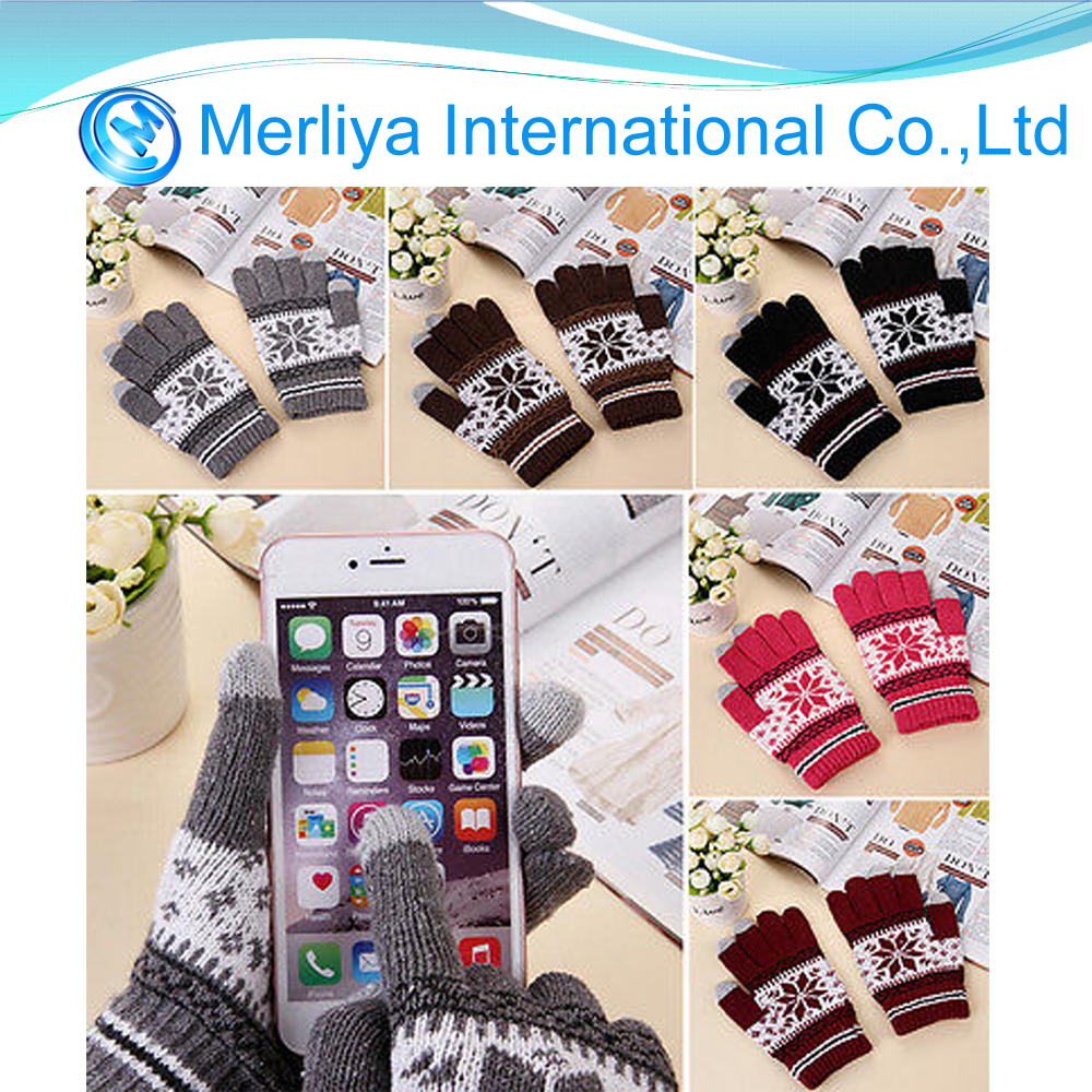 Mens Ladies Unisex Christmas Touch Screen Mobile Warm Gloves for iPhone Winter Magic
