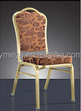 Hotel furniture used upholstered sackable restaurant chairs aluminium dining room chair