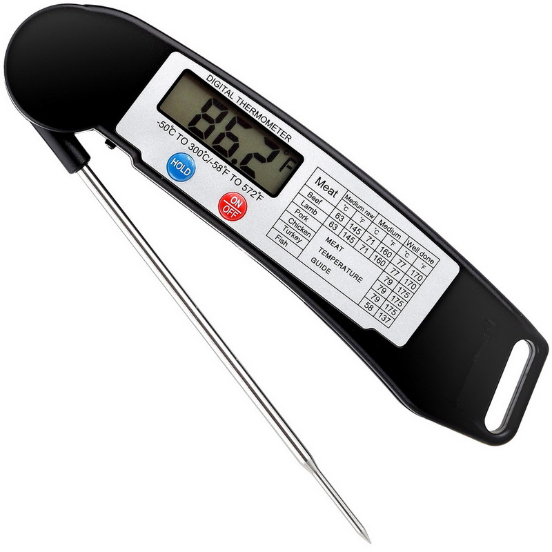 Digital Electronic Food Thermometer Cooking Thermometer Barbecue Meat Thermometer with Collapsible Internal Probe