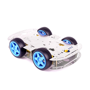Blue wheel Aluminum Chassis Arduinos 4WD Smart Robot Car Chassis Kit