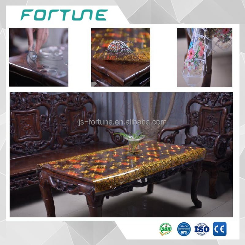 Version plastic pvc laminated heat printed sheets for table cloth