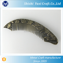 Hot sale promotion souvenir gifts moon shape metal hair comb beard comb