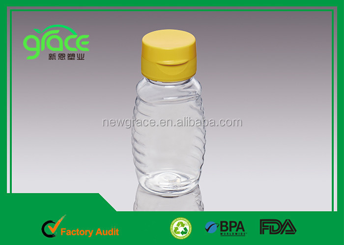 bpa free empty clear pet bottle bulk sale 500g honey packing transparent empty bottles silicone cap honey plastic squeeze bottle
