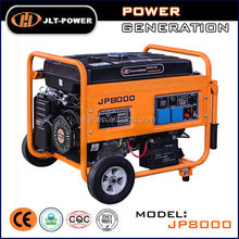 6kw Portable gas generator price with wheels, handles