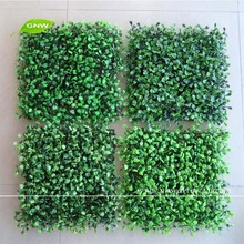 GNW BOX099 Home Decoration Indoor Boxwood Panel Green Plastic Artificial Grass